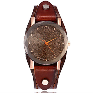 cheap Car Rear View Camera-Women's Bracelet Watch Wrist Watch Quartz Leather Black / White / Blue Casual Watch Analog Ladies Vintage Casual Simulated Diamond Watch Fashion - Red Green Blue One Year Battery Life / SSUO LR626