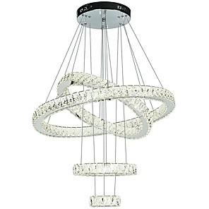 cheap Pendant Lights-1-Light 80 cm Crystal / Adjustable / Dimmable Chandelier Metal Electroplated Chic & Modern 110-120V / 220-240V