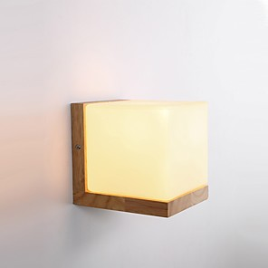 cheap Indoor Wall Lights-Simple / LED / Country Wall Lamps & Sconces Wood / Bamboo Wall Light 220V 5 W / E27