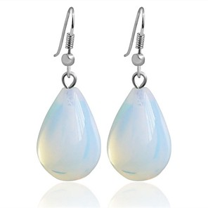 cheap Jewelry Sets-Women's Synthetic Tanzanite Drop Earrings Drop Ladies Personalized Natural Simple Style Fashion Earrings Jewelry White For Gift Daily Formal Office & Career Festival