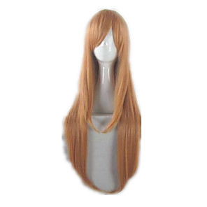 cheap Anime Costumes-SAO Swords Art Online Asuna Yuuki Cosplay Wigs Men's Women's 32 inch Heat Resistant Fiber Anime Wig
