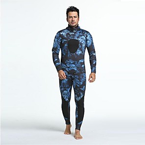 cheap Wetsuits, Diving Suits & Rash Guard Shirts-Men's Full Wetsuit 3mm Diving Suit Anatomic Design Long Sleeve Diving Surfing Camouflage All Seasons