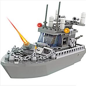 cheap RC Tanks-Building Blocks Model Building Kits Toys Warship Military Plastics Kids Boys Boys' Pieces