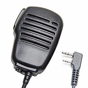 cheap Walkie Talkies-Rainproof 2-Pin Shoulder Remote Speaker Mic Microphone PTT For Kenwood Wouxun Puxing Baofeng Two Way Radio 2pin
