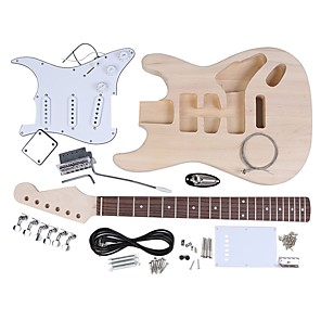cheap Amplifiers & Effects-ST Style Electric Guitar Basswood Body Maple Neck Rosewood Fingerboard DIY Kit Set