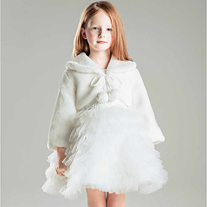 cheap Wedding Wraps-Shrugs Faux Fur / Polyester Wedding / Party / Evening Kids' Wraps With Smooth / Fur