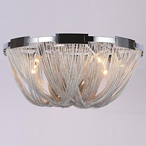 cheap Ceiling Lights-Ecolight™ 6-Light 60 cm Designers Flush Mount Lights Metal Electroplated Modern Contemporary 110-120V / 220-240V / E12 / E14