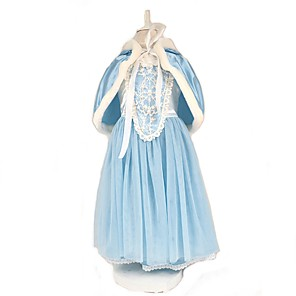 cheap Movie & TV Theme Costumes-Cinderella Elsa Dress Cosplay Costume Cloak Masquerade Flower Girl Dress Kid's Girls' A-Line Slip Christmas Halloween Carnival Festival / Holiday Polyster Red / Blue Carnival Costumes Solid Color Cute