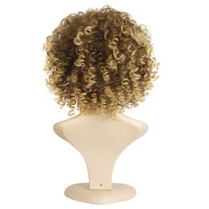 cheap Synthetic Trendy Wigs-Synthetic Wig Curly Curly Wig Short Black / Honey Blonde Synthetic Hair Women's African American Wig Mixed Color