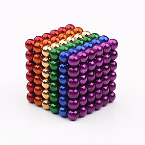 Magnet Balls 5 MM 216 PCS Colorful Rare Earth Cube Desk Toy Games with Endless DIY Shapes Craft Decoration Toys at Office or Home for Holiday Gift