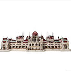 cheap 3D Puzzles-3D Puzzle Jigsaw Puzzle Model Building Kit Famous buildings DIY Natural Wood Classic Unisex Toy Gift