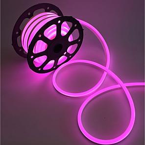 billige Neon EL-lys-2m Fleksible LED-lysstriper 240 LED 2835 SMD 10mm Varm hvit Hvit Rød Vanntett Kuttbar Koblingsbar 220 V / IP68