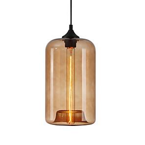 cheap Island Lights-1-Light 18 cm Chandelier / Pendant Light Glass Cylinder Modern Contemporary 110-120V / 220-240V