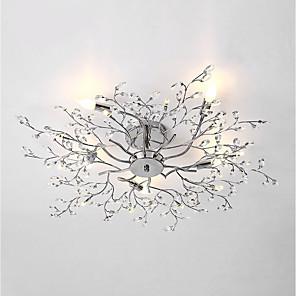 cheap Ceiling Lights-5-Light 78 cm Bulb Included Flush Mount Lights Metal Chrome Chic & Modern 110-120V / 220-240V