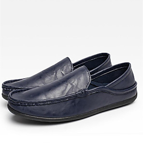 cheap Men's Slip-ons & Loafers-Men's Driving Shoes Canvas Spring / Fall Loafers & Slip-Ons Black / White / Blue / Split Joint / Outdoor / Office & Career