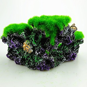 cheap Aquarium Décor & Gravel-Fish Tank Aquarium Decoration Fish Bowl Ornament Coral Jellyfish Black Resin 16.5*8.5*8 cm