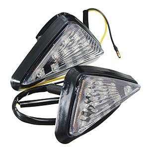 cheap Motorcycle Lighting-ZIQIAO 1 Pair Motorcycle Clear Flush Mount Turn Signal Light LED Lamp Amber Indicator Blinker Flashers Lighting