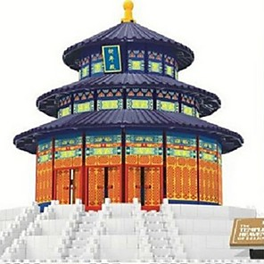 cheap 3D Puzzles-WAN GE Building Blocks Model Building Kit Building Bricks Famous buildings Chinese Architecture Temple of Heaven Fun & Whimsical Building Toys Toy Gift