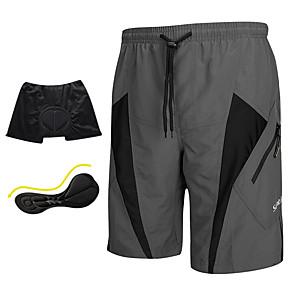 cheap IP Cameras-SANTIC Men's Cycling MTB Shorts - Grey Bike Shorts Padded Shorts / Chamois MTB Shorts, Breathable 3D Pad Quick Dry Polyester Spandex / Advanced Sewing Techniques