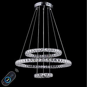 cheap Globe Design-1-Light 60 cm Crystal / Adjustable / Dimmable Chandelier Metal Circle Electroplated Chic & Modern 110-120V / 220-240V
