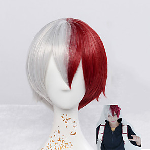 cheap Synthetic Trendy Wigs-Synthetic Wig Straight Natural Wave Natural Wave Straight Wig Short Red Synthetic Hair Cosplay Red