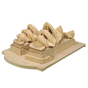 cheap 3D Puzzles-3D Puzzle Jigsaw Puzzle Wooden Model Famous buildings House Wooden Natural Wood Unisex Toy Gift