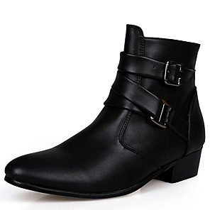 cheap Men's Boots-Men's Comfort Shoes Leather / Fabric Fall / Winter Boots Khaki / White / Black / Athletic / Lace-up / Outdoor / Snow Boots / Fashion Boots