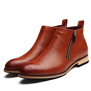 cheap Men's Boots-Men's Bootie Synthetics Fall / Winter British Boots Black / Brown / Party & Evening / Party & Evening / Office & Career