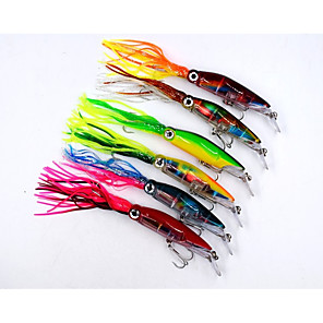 cheap Fishing Lures & Flies-6 pcs Fishing Hooks Fishing Lures Hard Bait Lure Packs Octopus Floating Sinking Bass Trout Pike Sea Fishing Bait Casting Lure Fishing Silicon Rubber Hard Plastic / Trolling & Boat Fishing