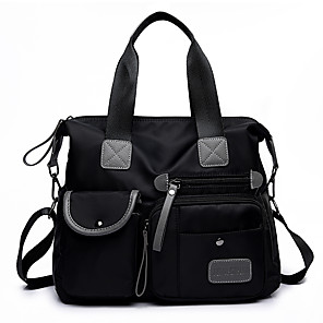 cheap Handbag & Totes-Women's Zipper Nylon Tote Black / Blue / Purple