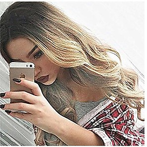 cheap Synthetic Trendy Wigs-Synthetic Wig Wavy Body Wave Body Wave Wig Blonde Long Blonde Pink Grey Blue Synthetic Hair Women's Heat Resistant Ombre Hair Blonde