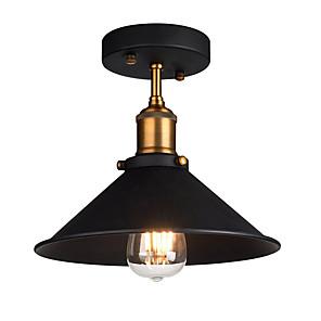 cheap Ceiling Lights-Diameter 26cm Industrial Ceiling Light Semi Flush Vintage Metal 1-Light Ceiling Lamp Dining Room Kitchen Light Fixture