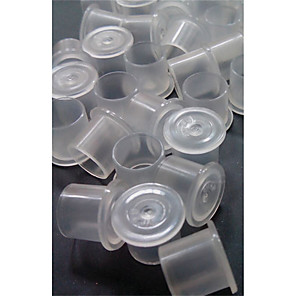 cheap Tattoo Transfers & Supplies-Tattoo Accessorie 1000pcs Microblading Pigment Cups Caps 11*10mm Ink Holder Permanent Makeup Tattoo Supplies