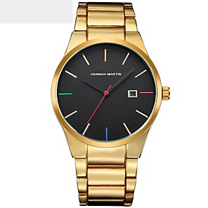 cheap Quartz Watches-Men's Sport Watch Military Watch Wrist Watch Japanese Quartz Stainless Steel Black / Silver / Gold Water Resistant / Waterproof Calendar / date / day Creative Analog Charm Luxury Classic Casual Bangle