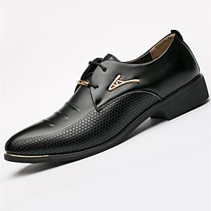 cheap Men's Oxfords-Men's Formal Shoes Spring / Fall Business Casual Outdoor Office & Career Oxfords PU Black / Brown / Rivet / EU40