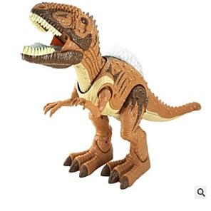 cheap Animal Action Figures-Animals Action Figure Light Up Toy Educational Toy Model Building Kit Tyrannosaurus Dinosaur Lighting Walking Electric Simulation Large Size Plastics 1 pcs Kid's Teen Party Favors, Science Gift