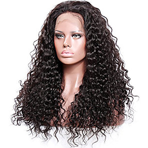 cheap Human Hair Wigs-Remy Human Hair Unprocessed Human Hair Glueless Full Lace Full Lace Wig style Brazilian Hair Curly Wig 130% 150% 180% Density with Baby Hair Natural Hairline African American Wig 100% Hand Tied