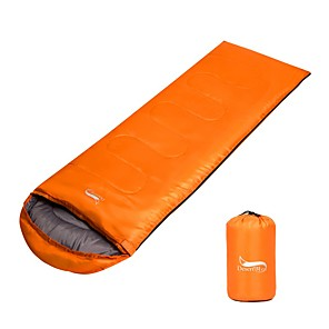 cheap Sleeping Bags & Camp Bedding-Sleeping Bag Outdoor Camping Envelope / Rectangular Bag 15 °C Double Size T / C Cotton Breathable Warm Foldable 225*75 cm Autumn / Fall Spring Summer for Camping / Hiking Traveling Outdoor