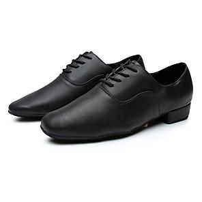 cheap Latin Dancewear-Men's Latin Shoes Sneaker Customized Heel Pigskin Black / Indoor / EU43