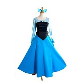 cheap Movie & TV Theme Costumes-Princess Cinderella Fairytale Women's Halloween Carnival Festival / Holiday Elastane Tactel Ocean Blue Carnival Costumes Vintage