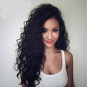 povoljno Perike s ljudskom kosom-Virgin kosa Netretirana  ljudske kose Perika pune čipke bez ljepila Full Lace Perika stil Brazilska kosa Kovrčav Perika 130% 150% 180% Gustoća kose s dječjom kosom Prirodna linija za kosu