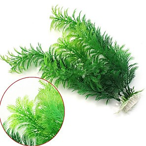 cheap Aquarium Décor & Gravel-Fish Tank Aquarium Decoration Artificial Plants Hornwort Anacharis Fish Bowl Waterplant Artificial Plants Green Plastic 30 cm