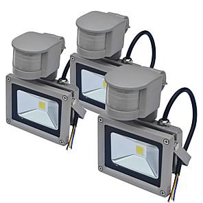 cheap Outdoor IP Network Cameras-JIAWEN 3pcs Sensor Led Flood Light Outdoor Human Body Induction Spotlight Floodlight 10W IP65 Waterproof Garden Lighting AC85-265 V