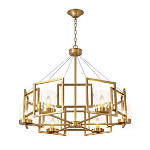 cheap Candle-Style Design-6-Light 80 cm Pendant Light Metal Glass Electroplated Chic & Modern 110-120V / 220-240V