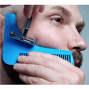 cheap Bathroom Gadgets-Beard Shaping Styling Template Beard Comb All-In-One Tool Comb for Hair Beard Trim Template
