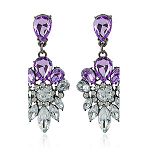 cheap Earrings-Women's Basic Rhinestone Earrings Jewelry Purple / Dark Navy For Party Gift Evening Party Stage Club