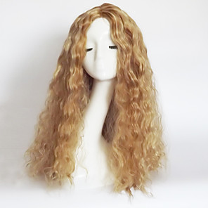 cheap Bluetooth Car Kit/Hands-free-Synthetic Wig Wavy Wavy Asymmetrical With Bangs Wig Blonde Long Strawberry Blonde / Light Blonde Synthetic Hair Women's Natural Hairline Blonde