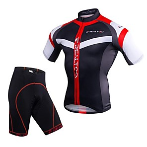 cheap Cycling Jersey & Shorts / Pants Sets-Realtoo Men's Short Sleeve Cycling Jersey with Shorts Black / Red Blue / White Bike Clothing Suit 3D Pad Quick Dry Sports Spandex Mountain Bike MTB Road Bike Cycling Clothing Apparel / Stretchy