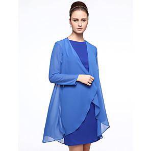 cheap Wedding Wraps-Coats / Jackets Chiffon Wedding / Party / Evening Women's Wrap With
