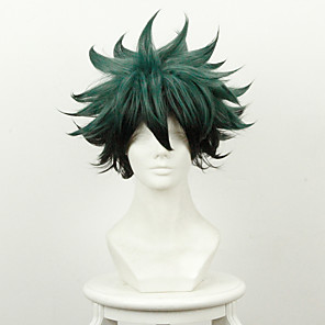 cheap Anime Costumes-My Hero Academy Battle For All / Boku no Hero Academia Midoriya Izuku Deku Cosplay Wigs Men's 14 inch Heat Resistant Fiber Anime Wig